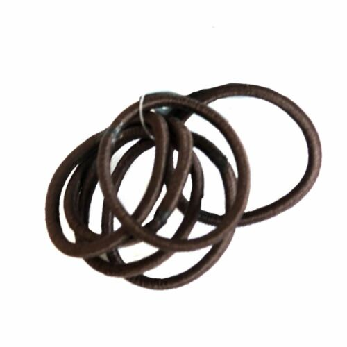 6 Brown Hair Colour Elastics Hair Endless Bands Ponios Snag Free