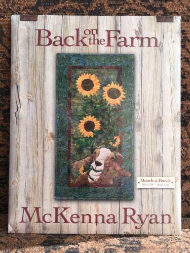 MCKENNA RYAN BACK ON THE FARM QUILT PATTERN  BLOCK 9 MUNCH-A-BUNCH 18 1//2 BY 34