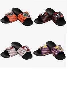 Mens-NCAA-Legacy-Sport-Slide-Water-Sandals-Flip-Flops-Pick-Team