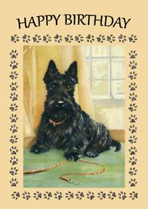 Scottish terrier scottie dog birthday greetings note card ebay image is loading scottish terrier scottie dog birthday greetings note card m4hsunfo