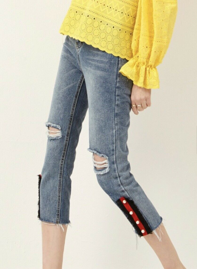 Brand New Cropped Jeans with Tags.