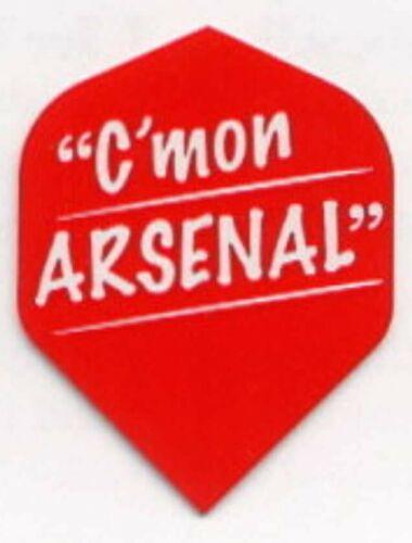 "Arsenal F.C /""Come On Arsenal/"" Dart Flights"
