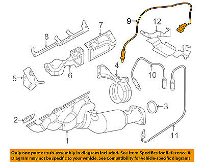 11 78 7 836 452 BMW M5 M6 Alpina B7 4.4L Oxygen Sensor Genuine 11787836452