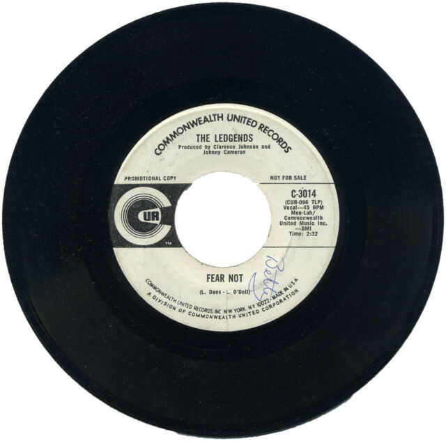 "THE LEGENDS  ""FEAR NOT c/w GOTTA LET YOU GO""  DEMO  SCARCE NORTHERN SOUL LISTEN!"