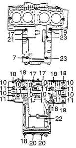 HONDA-CB550-CRANKCASE-STAINLESS-BOLT-SET-KIT-SCREWS-CB500-POLISHED