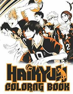 Haikyuu Coloring Book Volleyball Anime Coloring Books With High Paperback 2020 Ebay