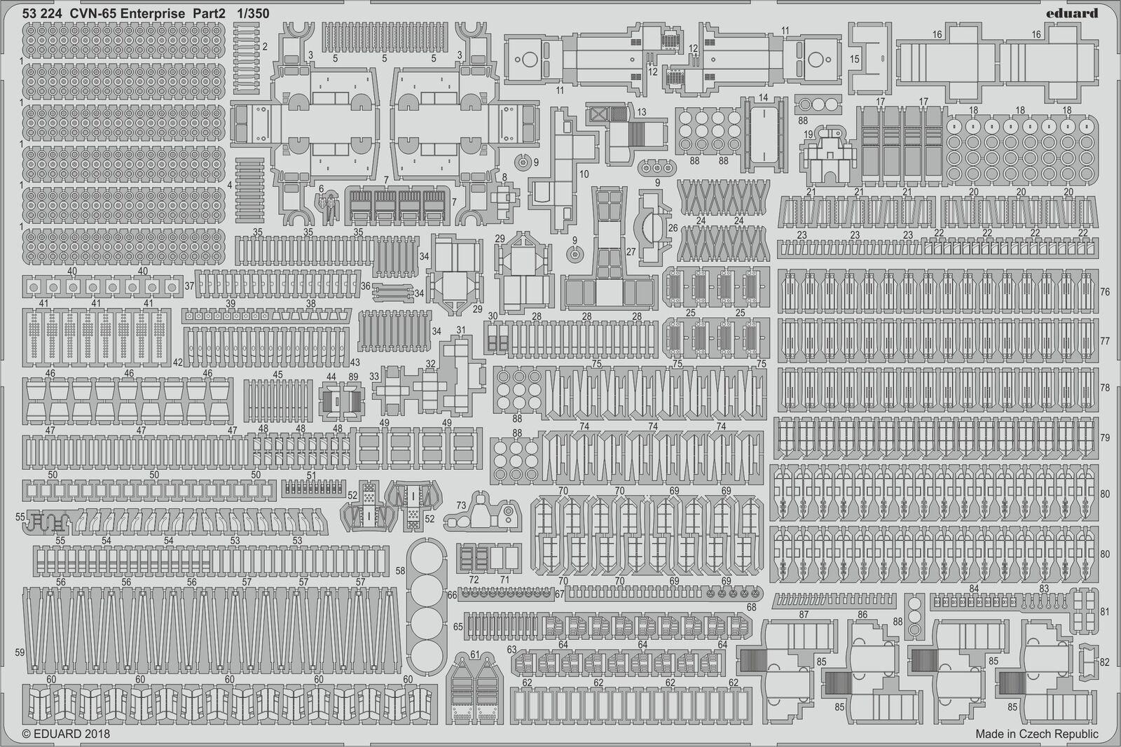 descuento Eduard 1 1 1 350 Uss Enterprise CVN-65 Parte 2  53224  70% de descuento