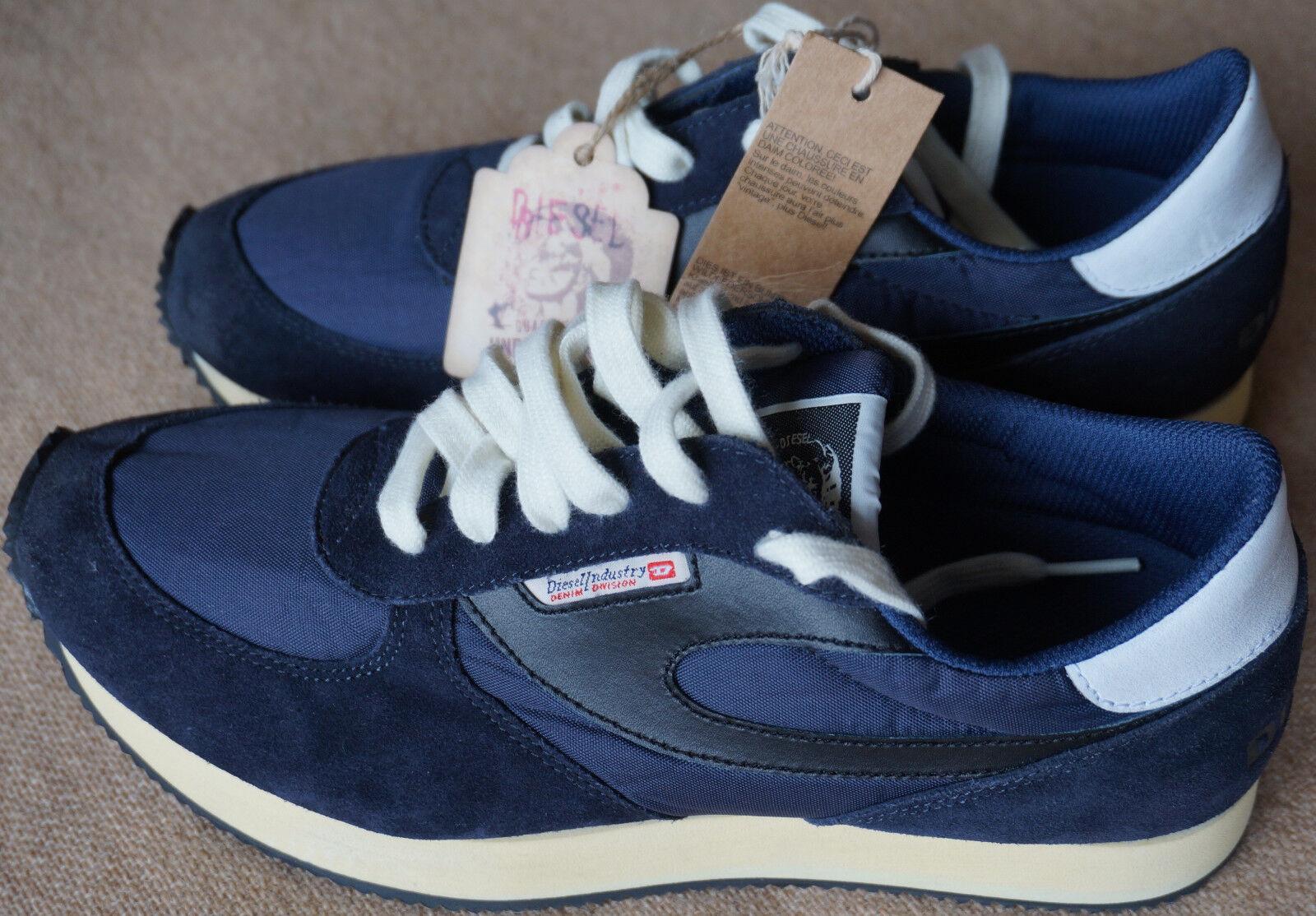 Diesel Industry Edel Sneaker F.D.User Navy 41 ungetragen NP 140 große Bilder!