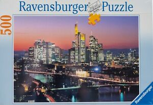 Jigsaw puzzle RAVENSBURGER 500 pieces Skyline Frankfurt, new unopened.
