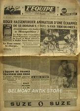 Journal l'Equipe n°3201- 1956 -Tour de France - Hassendorfer - Adriaenssens -
