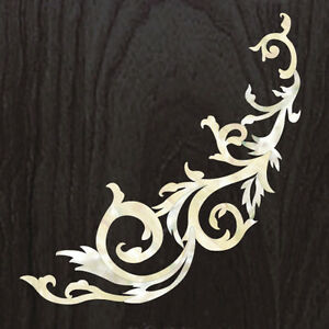 Gothic Line/DS ( White Pearl ) Traditional Vine Inlay Sticker Decal For Guitar