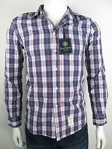 Fred-Mello-Gustave-Blue-Shirt-Hemd-Camicia-Kariert-Overhemd-Neu-50-M-XXL