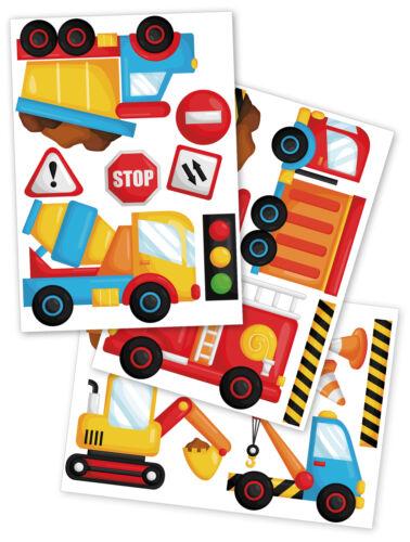 Voiture camion Excavateurs Mural Sticker Film Autocollant Enfants Chambre DIN a4 y036