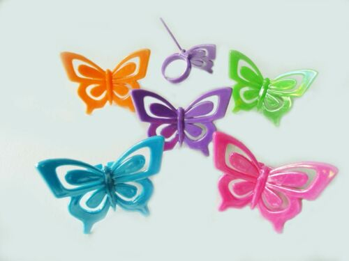 24 Butterfly Cupcake Rings Cake Toppers Decorations Party Favors Summer Summer