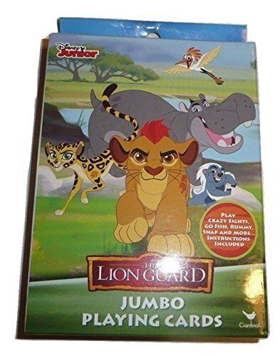 THE LION GUARD DISNEY JUNIOR JUMBO PLAYING CARDS SEVERAL GAMES FREE USA SHIP