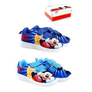 Scarpe-Topolino-bambino-Disney-leggere-bambina-strappo-blu-mickey-mouse-24-al-31