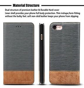iPhone-8-Wallet-7-Premium-Case-Credit-Card-Slots-Pockets-Magnetic-Leather-Grey