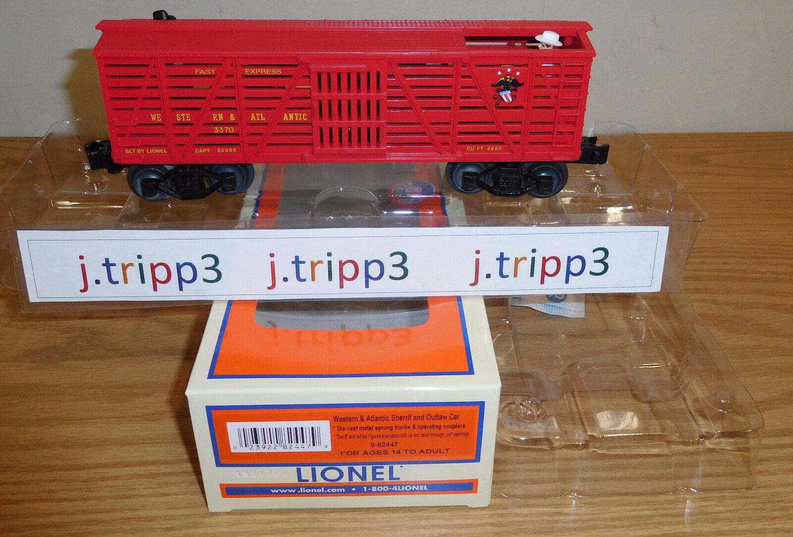 Lionel 6-82447 oeste Atlántico w&a Sheriff Outlaw animado coche tren o calibre