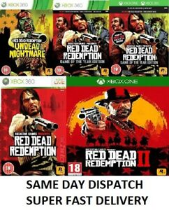 Red-DEAD-REDEMPTION-Xbox-ONE-Xbox-360-Bundle-ASSORTITI-consegna-super-veloce