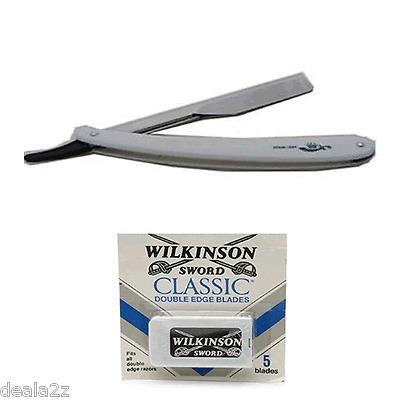1XAncient Style Shaving Razor Uses Changeable Double Edge Blades 20 blades Free