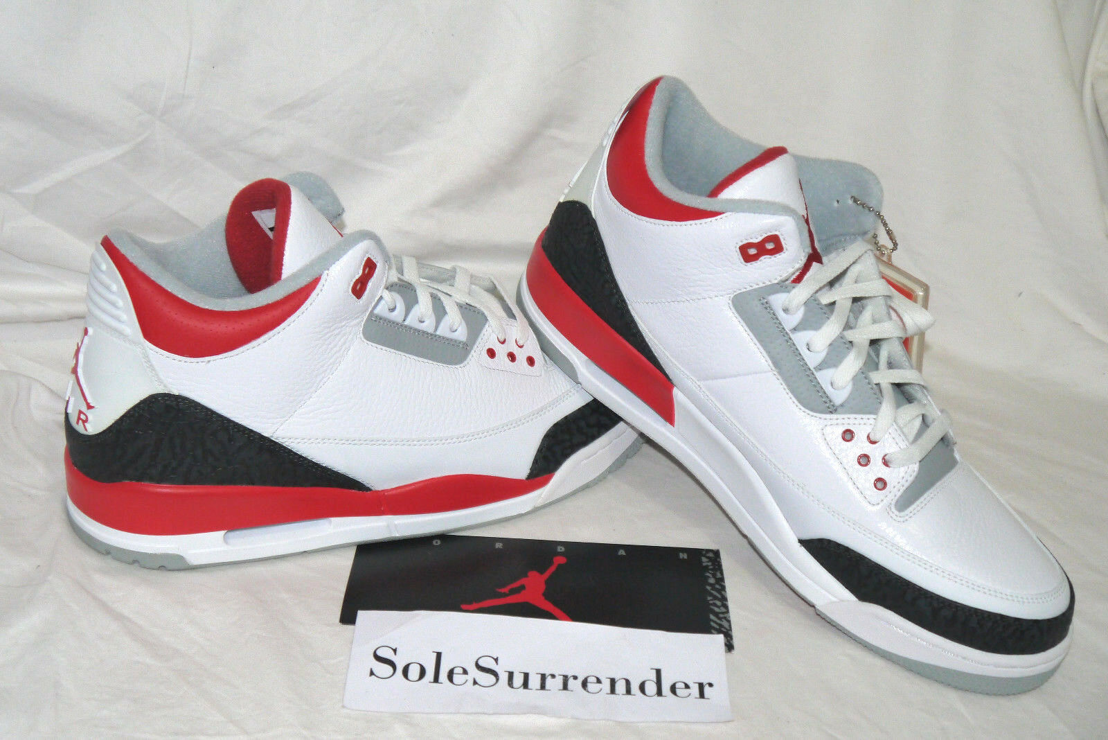 Air Jordan 3 Retro - SIZE 13.5 - NEW - 136064-120 Fire Red III White Black Bred Great discount