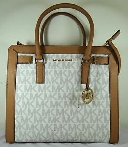 ebd9552f1d41 Image is loading Michael-Kors-Dillon-Large-North-South-Vanilla-Signature-