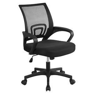 Mesh Office Chair Swivel Computer Desk Chair Adjustable Executive Fabric Seat