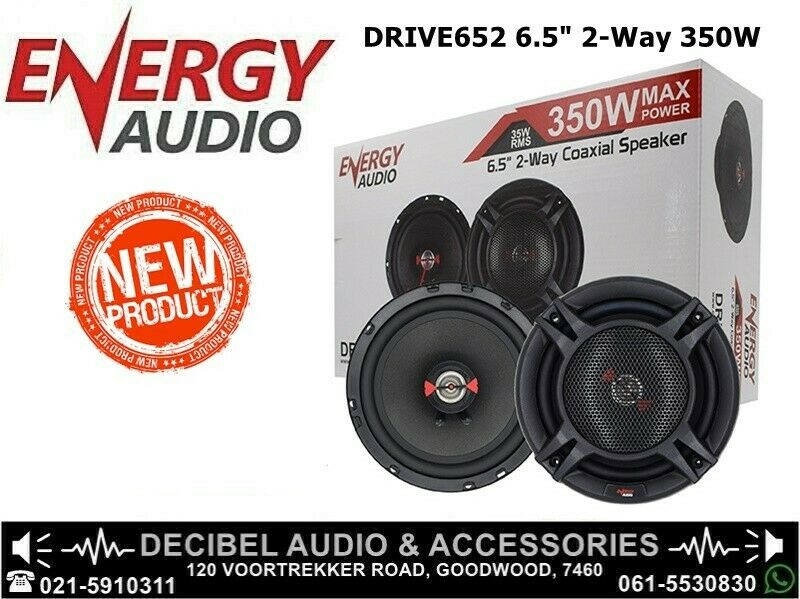 Energy Audio DRIVE652 6.5inch 2-Way 350W Coaxial Speakers