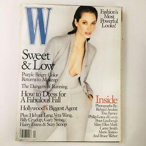 W Magazine September 1998 Supermodel Christy Turlington Photo Finish, No Label