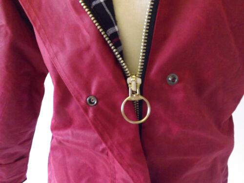 Nouvelle Femme anglais montés coton Cire Veste d/'Hiver De Marche Marron Rouge Vert tan