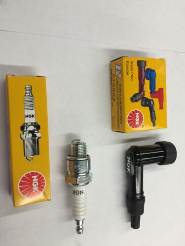MOTORIZED BICYCLE NGK SPARK PLUG AND  NGK SPARK PLUG BOOT CAP