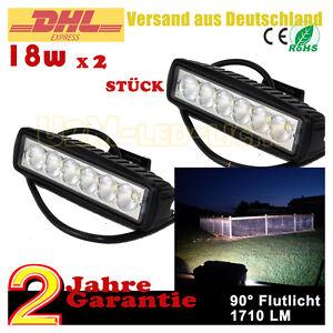 2x18Watt-LED-Arbeitsscheinwerfer-Fernlicht-SUV-UTE-Motorrad-Rueckfahrscheinwerfer