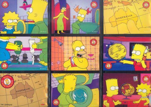Los Simpsons Down Under 1996 Tempo Tarjeta de base completa Conjunto de 100 un