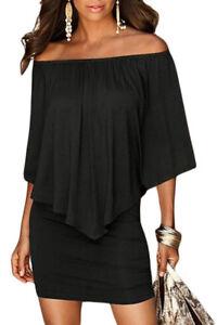 Sexy-abito-da-donna-mini-vestito-nero-Casual