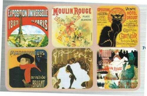 SOUS VERRES SOUS BOCK AMBIANCE CABARETS MOULIN ROUGE PARIS 1900