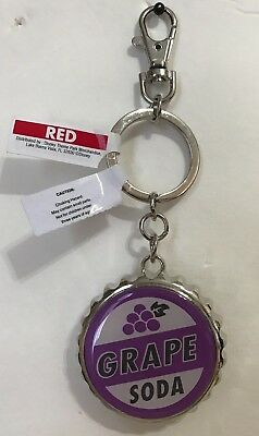 NEW Disney Parks UP Grape Soda Cap Bottle Opener Keychain