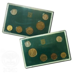 Israel-Official-Mint-New-Sheqel-Coins-Set-1988-Uncirculated