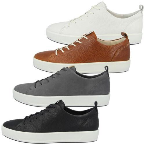 Ecco Soft 8 Men Schuhe Herren Sneaker Leder Halbschuhe Schnürer Biom 440504