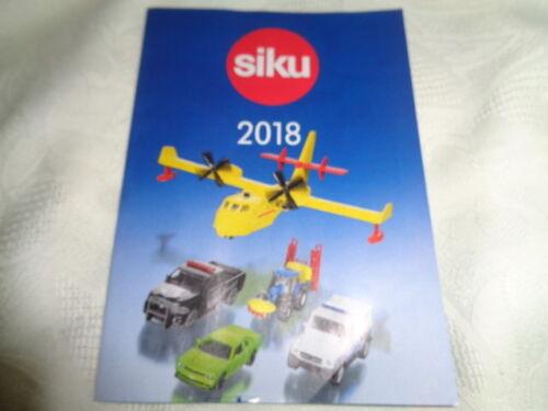 Siku 9001   Prospekt 2018  Händler Katalog Heft  A 6 10 x 14,5 cm 55 Seiten NEU