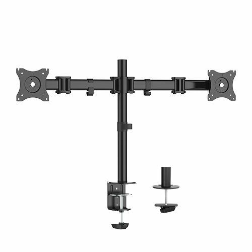 Ergopose Adjustable Steel Dual Monitor Arm