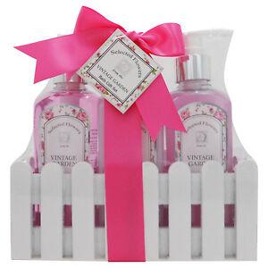 3-tlg-Beauty-amp-Wellness-Geschenkset-Geschenkbox-fuer-Damen-Duft-Rose-NEU-OVP