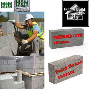 celcon thermalite 100mm blocks 100mm 7n dense concrete. Black Bedroom Furniture Sets. Home Design Ideas