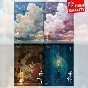 Spirited Away Film Chinese Style Poster Hayao Miyazaki Anime Movie A4 A3 A2 A1 Ebay