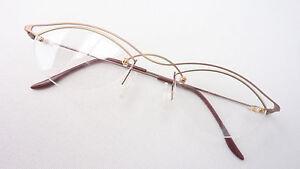 M Reich Und PräChtig Bohrbrille Fassung Brillengestell Leicht Dezent Damen Metall Kupfer Gold Gr Sonnenbrillen & Zubehör