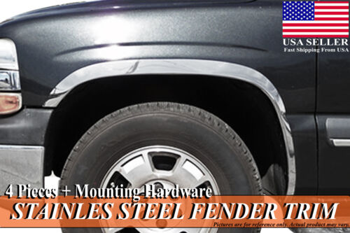2000-2006 Chevrolet Suburban GMC Yukon XL Stainless Steel Fender Wheel Molding