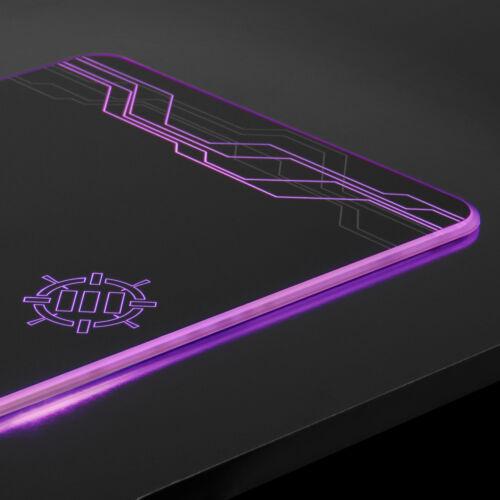 ENHANCE Large Hard Surface LED Gaming Mouse Pad 7 RGB Light Up Modes