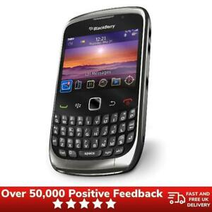 Blackberry Curve 9300 QWERTY Tastatur Retro Handy Gesperrt-schwarz