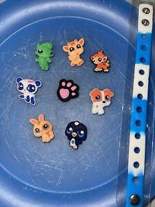 Littlest-Pet-Shop-Lot-Of-8-Shoe-Charms-amp-Lace-Adapter-Charms-1-Bracelet