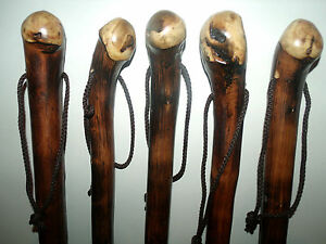 """Solid Chestnut Wood Trekking Walking Stick AID Cane Rustic Root Ball Stick 36"""""""
