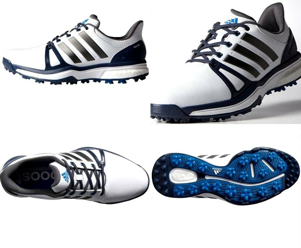 adidas Mens Adipower Boost 2 White / Blue Q44661 Golf Shoes Q44661 Blue Size 8.5 US 78e7c9